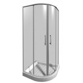Sprchový kout Jika Lyra plus čtvrtkruh 90 cm, R 550, čiré sklo, bílý profil H2533820006681