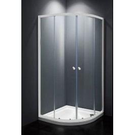Sprchový kout Multi Basic čtvrtkruh 90 cm, R 550, čiré sklo, bílý profil, univerzální SIKOMUS90T0
