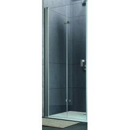 Sprchové dveře Huppe Design Pure skládací 75 cm, čiré sklo, chrom profil DPUSD75190CRT