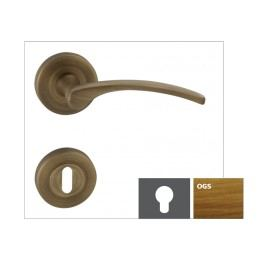 Klika LAURA2-R,bronz česaný matný,WB LAURA2ROGSWB