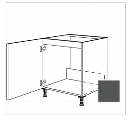 TERRY24 Kuchyňská skříňka spodní dřez 60 cm 1D levá, břidlicově šedá 334.SPUD60.L