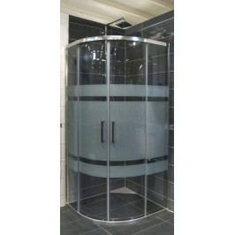 Sprchový kout Siko TEX čtvrtkruh 100 cm, R 550, sklo proužky, chrom profil, univerzální SIKOTEXS100CRS