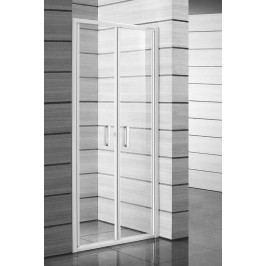 Sprchové dveře Jika Lyra plus dvoukřídlé 90 cm, čiré sklo, bílý profil H2563820006681