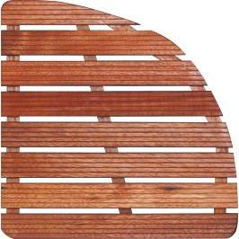 Sprchová rohož-dřevo ČTVRTKRUH 64x64x4cm ROHOZ80S