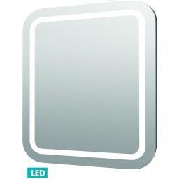 Zrcadlo s osvětlením led Iluxit 80x70 cm IP44, s vyhřívanou fólií a senzorem ZIL8070KTLEDS
