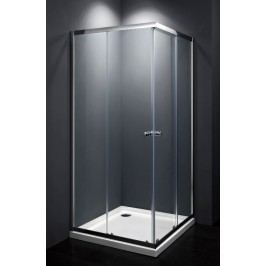 Sprchový kout Multi Basic čtverec 90 cm, čiré sklo, chrom profil, univerzální SIKOMUQ90CRT