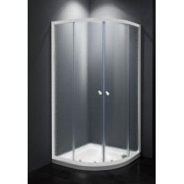 Sprchový kout Multi Basic čtvrtkruh 80 cm, R 550, neprůhledné sklo, bílý profil, univerzální SIKOMUS80CH0