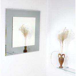 Amirro Tomáš 60 x 60 cm Fazetované zrcadlo s šedým podkladem 701-039