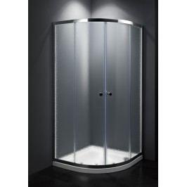 Sprchový kout Multi Basic čtvrtkruh 80 cm, R 550, neprůhledné sklo, chrom profil, univerzální SIKOMUS80CRCH