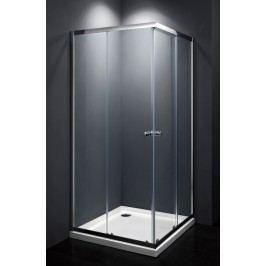 Sprchový kout Multi Basic čtverec 80 cm, čiré sklo, chrom profil, univerzální SIKOMUQ80CRT