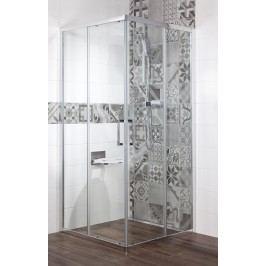Sprchový kout Siko TEX čtverec 100 cm, čiré sklo, chrom profil, univerzální SIKOTEXQ100CRT