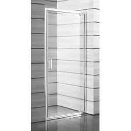 Sprchové dveře Jika Lyra plus jednokřídlé 90 cm, čiré sklo, bílý profil H2543820006681