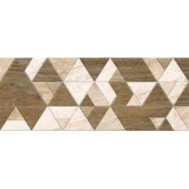 Dekor Pilch Adore beige triangles 25x65 cm, mat DADORETR
