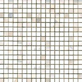 Kamenná mozaika 1,5x1,5 cm Premium Mosaic Stone 30,5x30,5 cm bílá leštěná STMOS15WHP