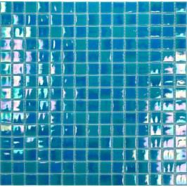 Premium Mosaic Crystal mozaika tyrkysová s perletí 32,7x32,7 cm MOS20TUHM