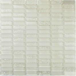 Premium Mosaic Mozaika bílá crashed 1,5x4,8 cm MOS4815CRWH
