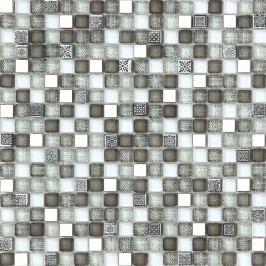 Premium Mosaic mozaika Mix šedá kov/sklo 30x30 cm MOSV15MIXGY