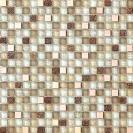 Premium Mosaic mozaika MIX béžová sklo/kov 30x30 cm MOSV15MIXBE