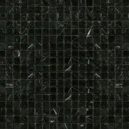 Kamenná mozaika 1,5x1,5 cm Premium Mosaic Stone 30,5x30,5 cm černá leštěná STMOS15BKP