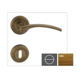 Klika LAURA2-R,bronz česaný matný,WC LAURA2ROGSWC
