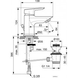Ideal Standard Tesi A6566AA