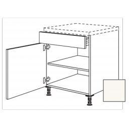ERIKA24 Kuchyňská skříňka spodní 60 cm 1Z+1D plnovýsL, bílá lesk 450.US60.L