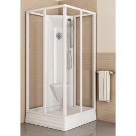 Sprchový kout RAVAK ASBRV2-80 bílá+transparent (4díly) 82644112Z1