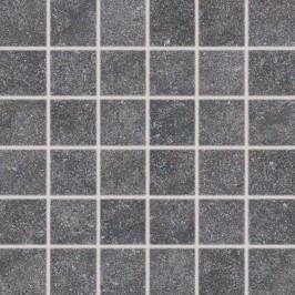 Mozaika Rako Kaamos černá 30x30 cm, protiskluz, rektifikovaná DDM06588.1