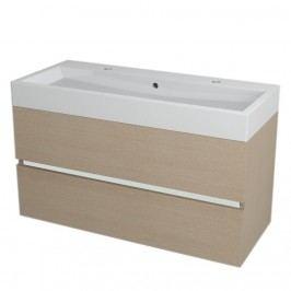 LARGO umyvadlová skříňka 99x50x41cm, dub benátský