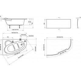 RAVAK Panel čelní Asymmetric 150 P CZ45100000