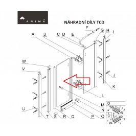Sklo dveře transp. 80, TCD280T NDTCD280TDVERE