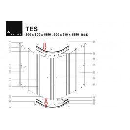 DOPRODEJ Vodící profil bílý k TES90, 1ks NDTES7900