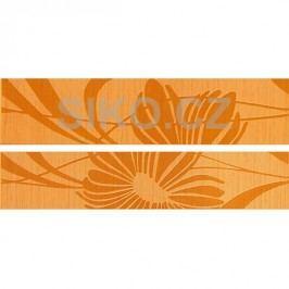 Listela Fineza Via veneto arancio 5x25 cm, mat WLAGE062.1