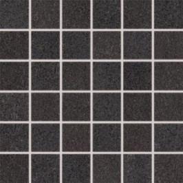 Mozaika Rako Unistone černá 30x30 cm, mat, rektifikovaná DDM06613.1