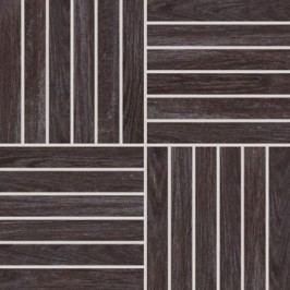 Mozaika Rako Wood tmavě hnědá 30x30 cm, mat, rektifikovaná DDV1V621.1