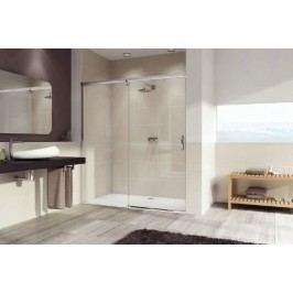 Sprchové dveře Huppe Aura Elegance posuvné 100 cm, čiré sklo, satin profil, levé 401412.087.322