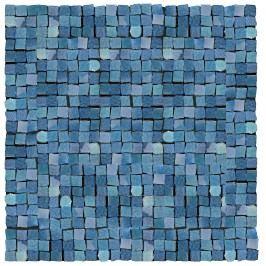 Mozaika Del Conca Corti di Canepa blu mosaic 30x30 cm, lesk CMGBLMOZ