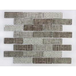 Premium Mosaic Mozaika sklo textile brown 31x98 MOSV98TBR