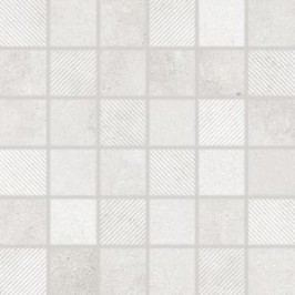 Mozaika Rako Form světle šedá 30x30 cm, mat, rektifikovaná DDR05695.1