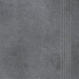 Schodovka Rako Form tmavě šedá 33x33 cm, reliéfní DCP3B697.1