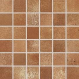 Mozaika Rako Via hnědá 30x30 cm, mat, rektifikovaná DDM05713.1