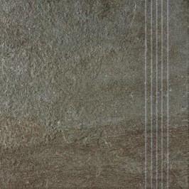 Schodovka Rako Como hnědá 33x33 cm, reliéfní DCP3B694.1