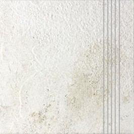 Schodovka Rako Como bílá 33x33 cm, reliéfní DCP3B692.1