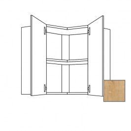 LUSI24 Kuchyňská skříňka horní rohová 60 cm 2D, dub 698.WE6001L
