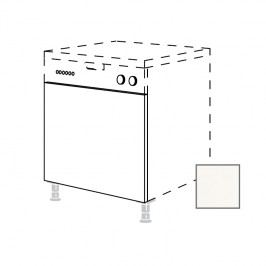 ERIKA24 Kuchyňská dvířka na myčku v.60xš.45cm, s panelem, bílá lesk - 450.GSB45