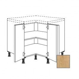 LUSI24 Kuchyňská skříňka spodní rohová 90 cm 2D, dub 698.UDTE90.L