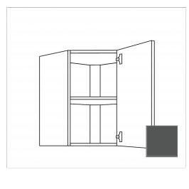 TERRY24 Kuchyňská skříňka horní rohová 60cm pravá, břidlicově šedá 334.WED6001.R
