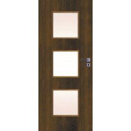 Interiérové dveře NATUREL Kano, 70 cm, levé, ořech karamelový, KANO30OK70L
