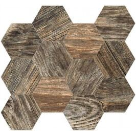 Mozaika Fineza Timber Design stonewash hexagon 31,5x36,5 cm, mat, rektifikovaná TIMDEMOSESSW