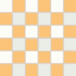 Mozaika Rako Tendence bílooranžová 30x30 cm, pololesk WDM06156.1